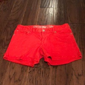 EXPRESS Red Jean Shorts - Size 4